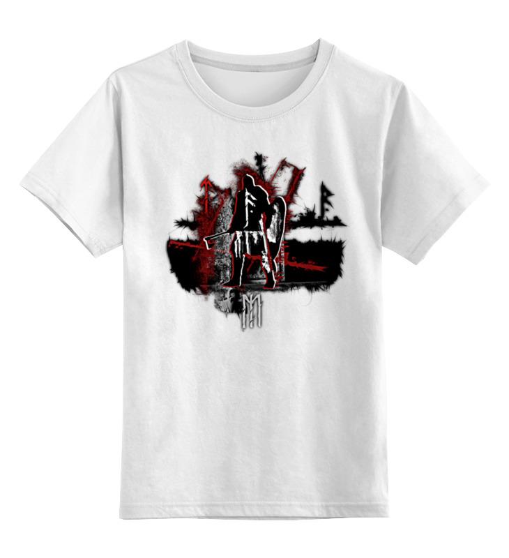 Детская футболка классическая унисекс Printio Викинг в треш-польке. детская футболка классическая унисекс printio суровый викинг