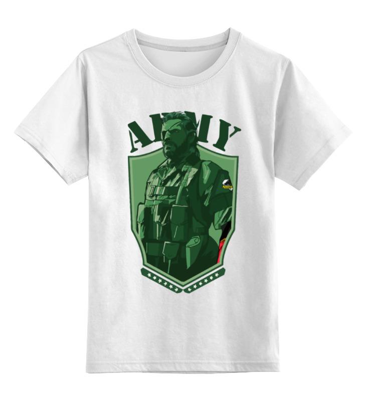 Детская футболка классическая унисекс Printio Solid snake (metal gear)