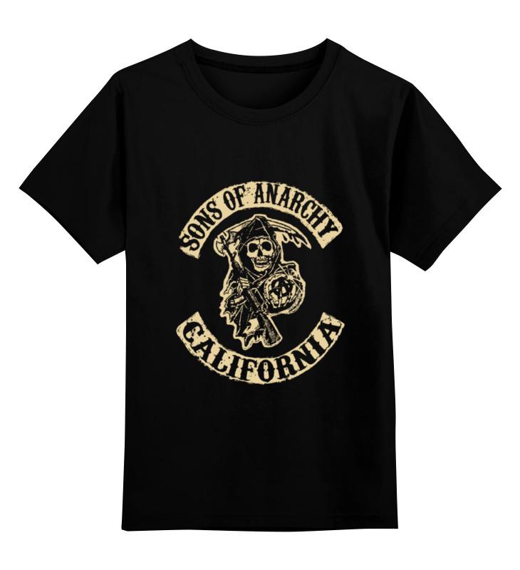 Детская футболка классическая унисекс Printio Sons of anarchy california майка классическая printio sons of anarchy t shirt