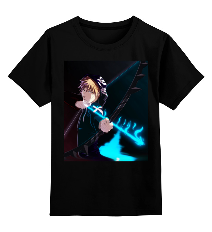 Детская футболка классическая унисекс Printio Ичиго куросаки