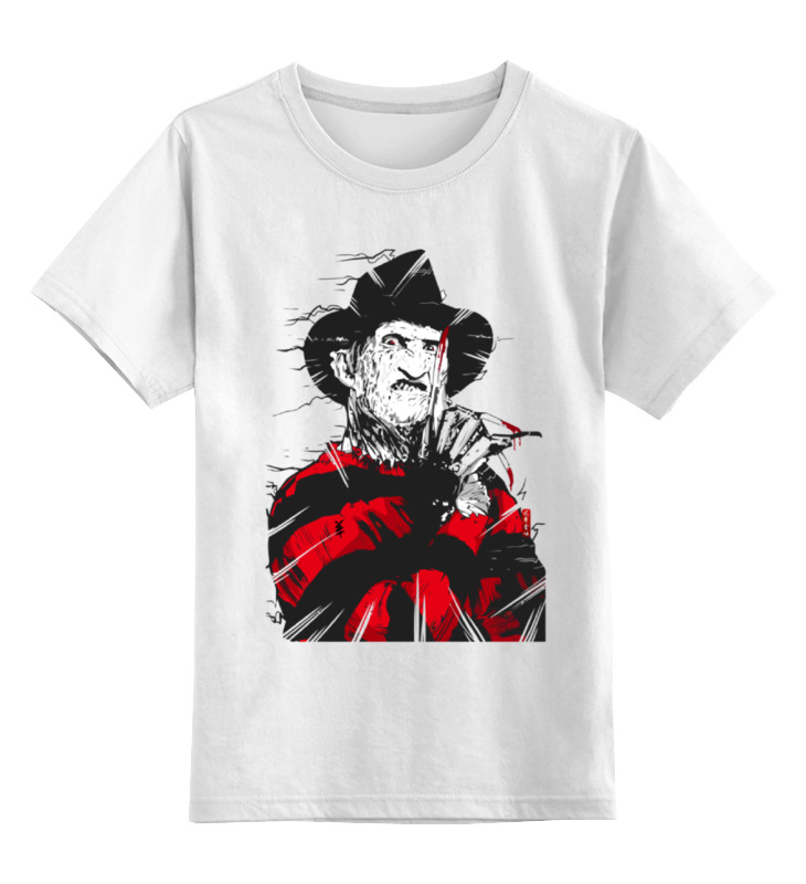 Детская футболка классическая унисекс Printio Фредди крюгер детская футболка классическая унисекс printio девушка фредди крюгер