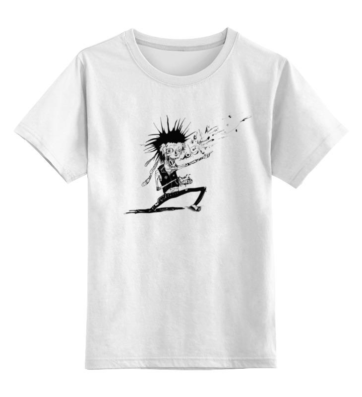 Детская футболка классическая унисекс Printio Панк зомби детская футболка классическая унисекс printio панк рок кафе