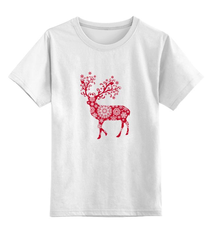 Детская футболка классическая унисекс Printio Новогодний олень футболка классическая printio новогодний лось