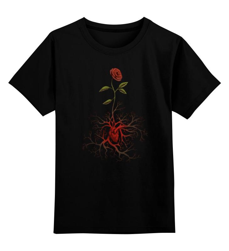все цены на Детская футболка классическая унисекс Printio Роза и сердце онлайн