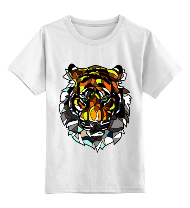 Детская футболка классическая унисекс Printio Морда тигра детская футболка классическая унисекс printio морда тигра