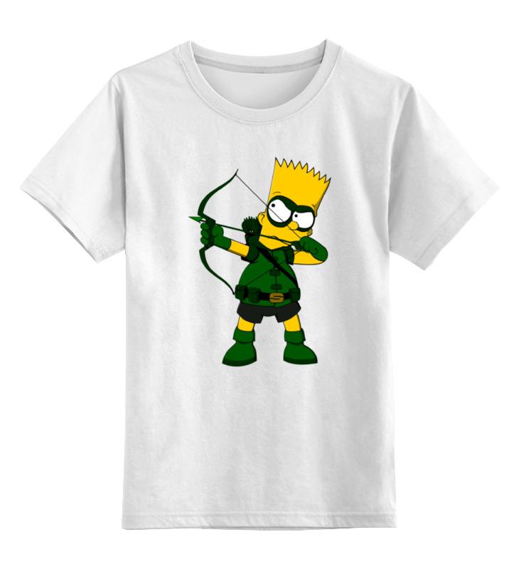 Детская футболка классическая унисекс Printio Барт (зеленая стрела) цена