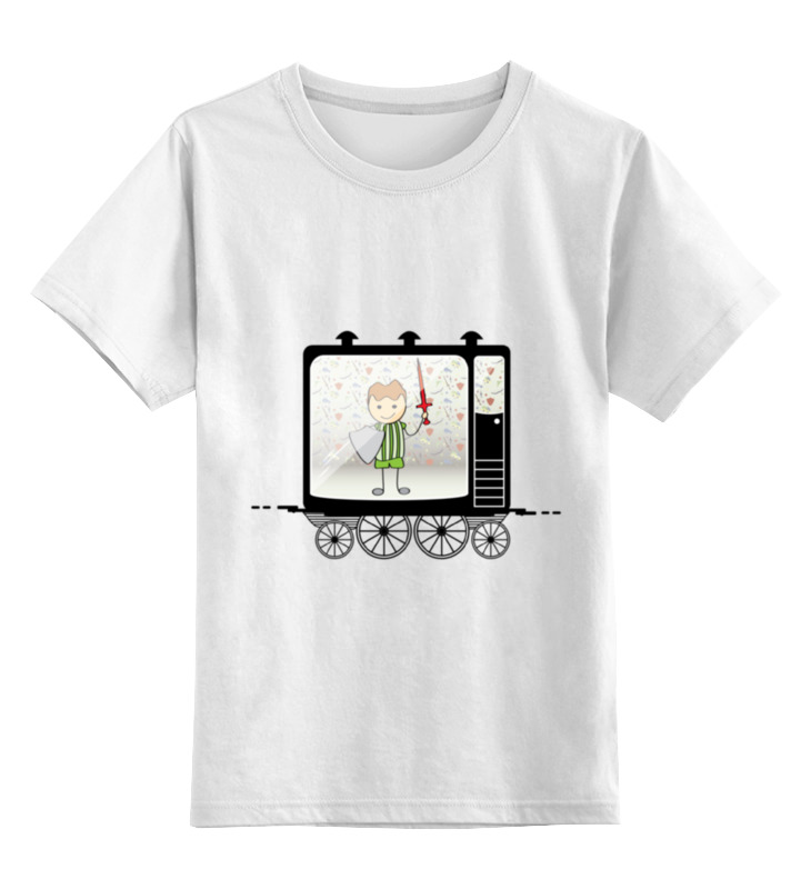 Детская футболка классическая унисекс Printio Мальчик с мечом и щитом лонгслив printio мальчик с мечом и щитом
