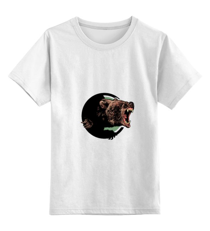Детская футболка классическая унисекс Printio Медведь медведь будоражить boonic медведи плюшевые игрушки куклы несут большое количество стоящих 48cm