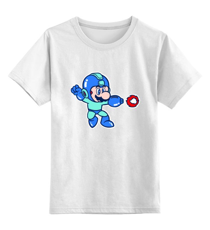 Детская футболка классическая унисекс Printio Марио мегамен цена