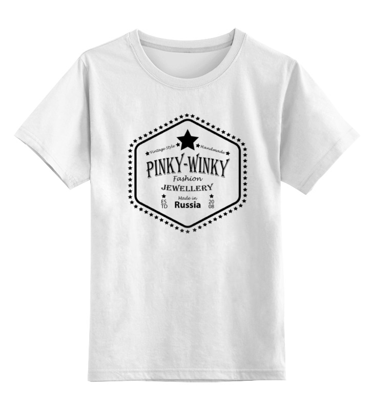Детская футболка классическая унисекс Printio Pinky-winky