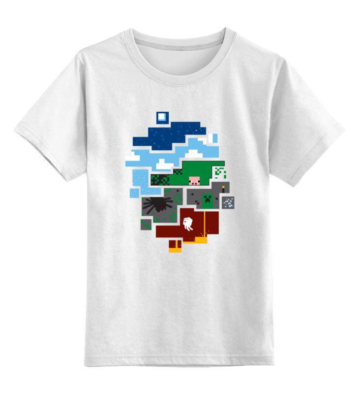 Детская футболка классическая унисекс Printio Minecraft world new arrival lele hull wadi my world minecraft minifigures building blocks bricks toys for children gift 8star