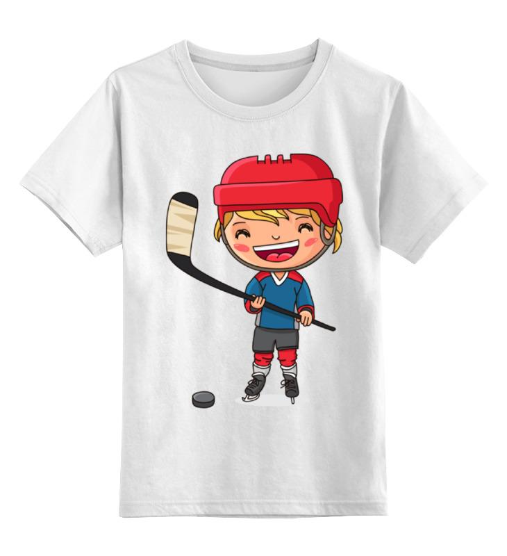 Детская футболка классическая унисекс Printio Хоккеист футболка классическая printio панда хоккеист