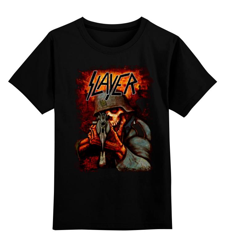 Детская футболка классическая унисекс Printio Slayer band