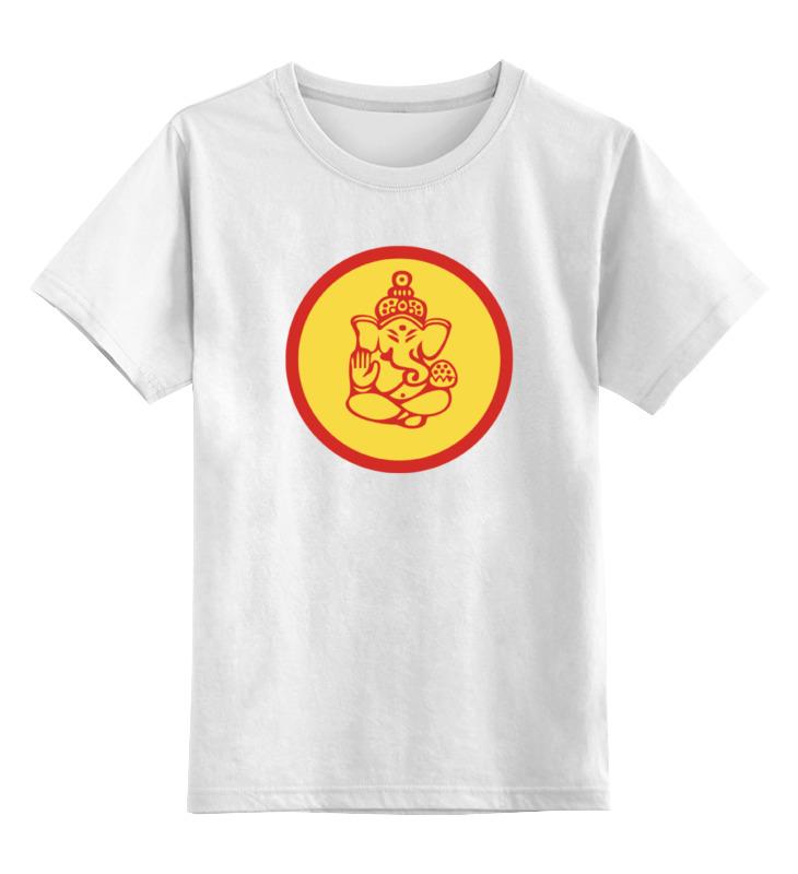Детская футболка классическая унисекс Printio Ганеша майка print bar бог благополучия ганеша