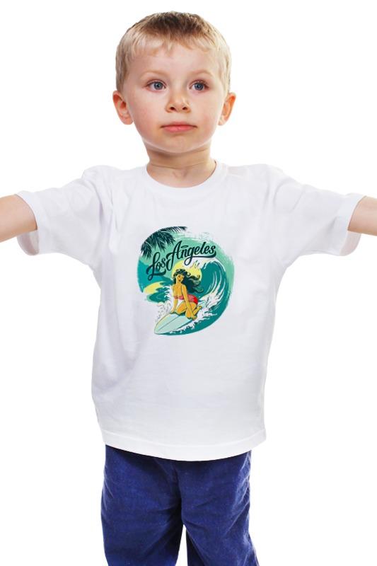 Детская футболка классическая унисекс Printio Лос-анжелес монитор лос