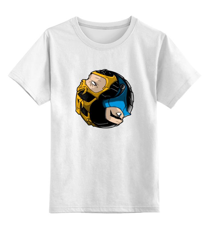 Детская футболка классическая унисекс Printio Scorpion x sub-zero (mortal kombat) детский свитшот унисекс printio mortal kombat x sub zero