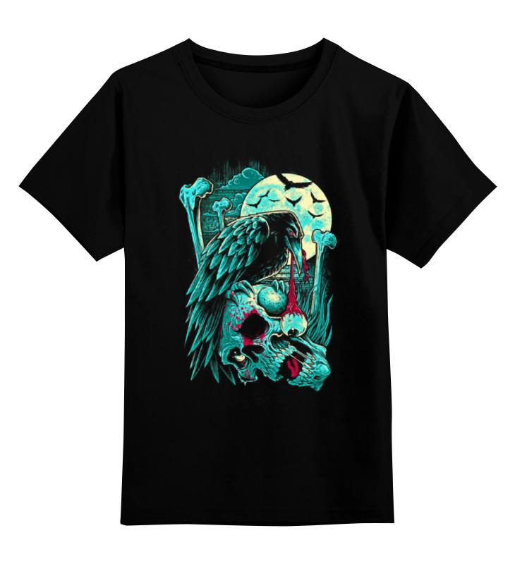 цена на Детская футболка классическая унисекс Printio Art horror