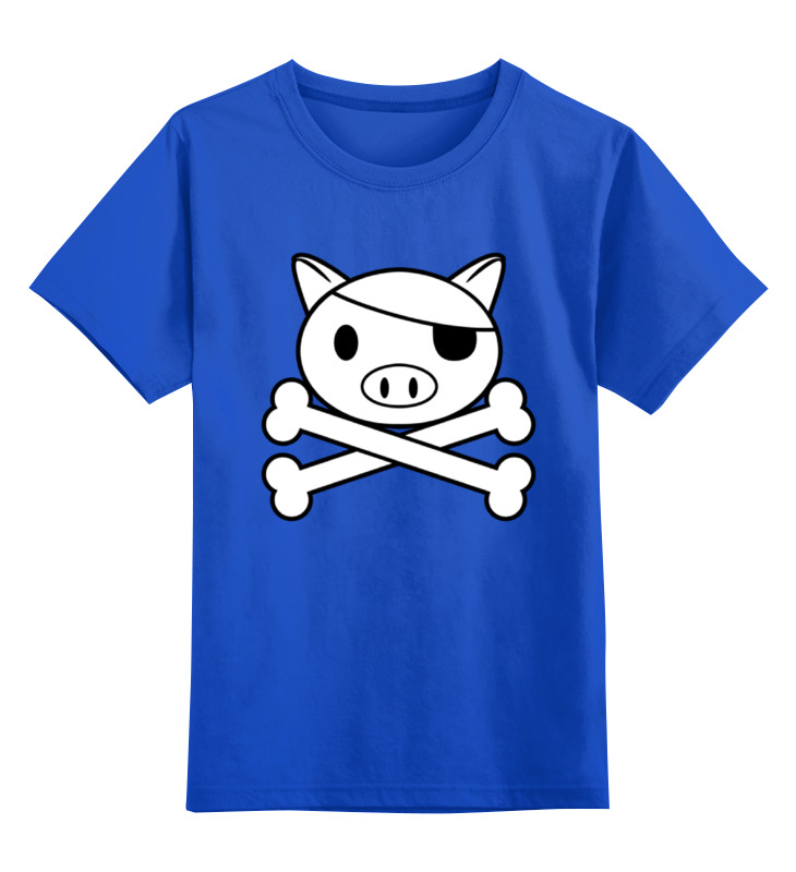 Детская футболка классическая унисекс Printio Свинья пират детская футболка классическая унисекс printio свинья пират
