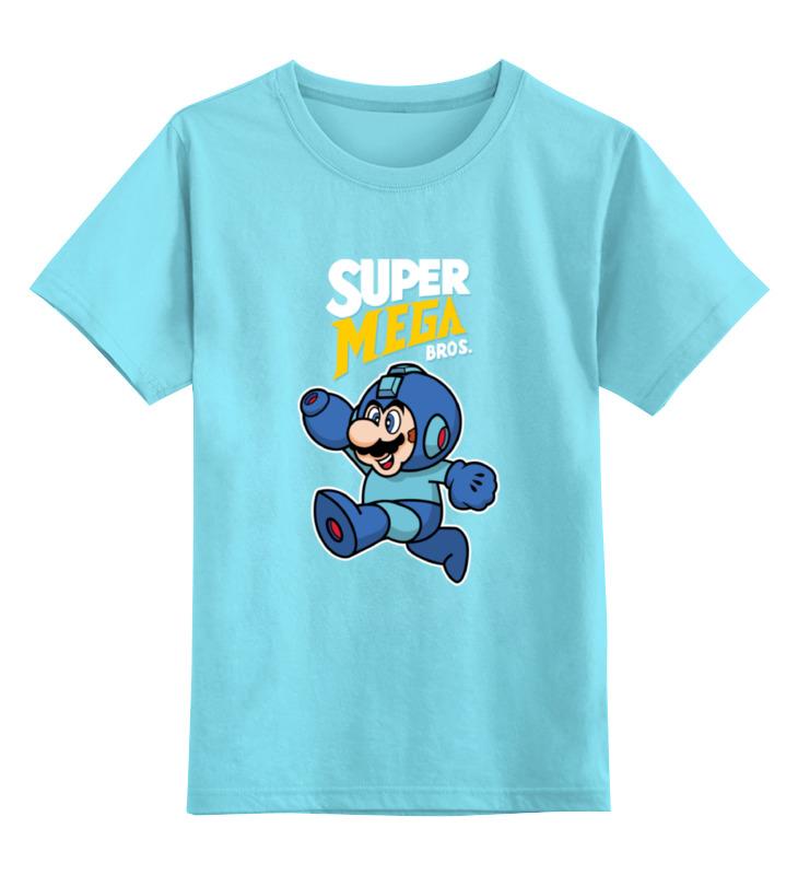 Детская футболка классическая унисекс Printio Super mario (mega man)