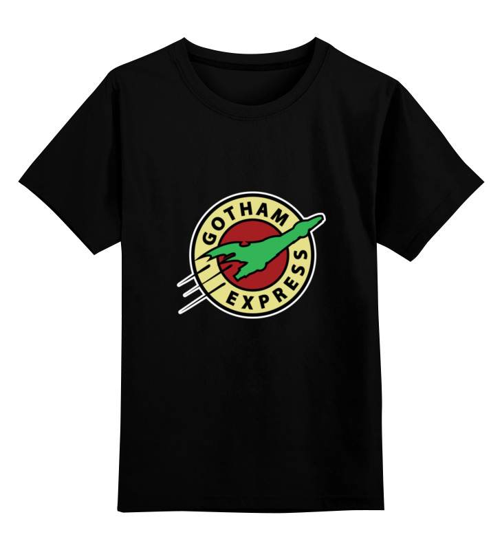 Детская футболка классическая унисекс Printio Готэм экспресс цена