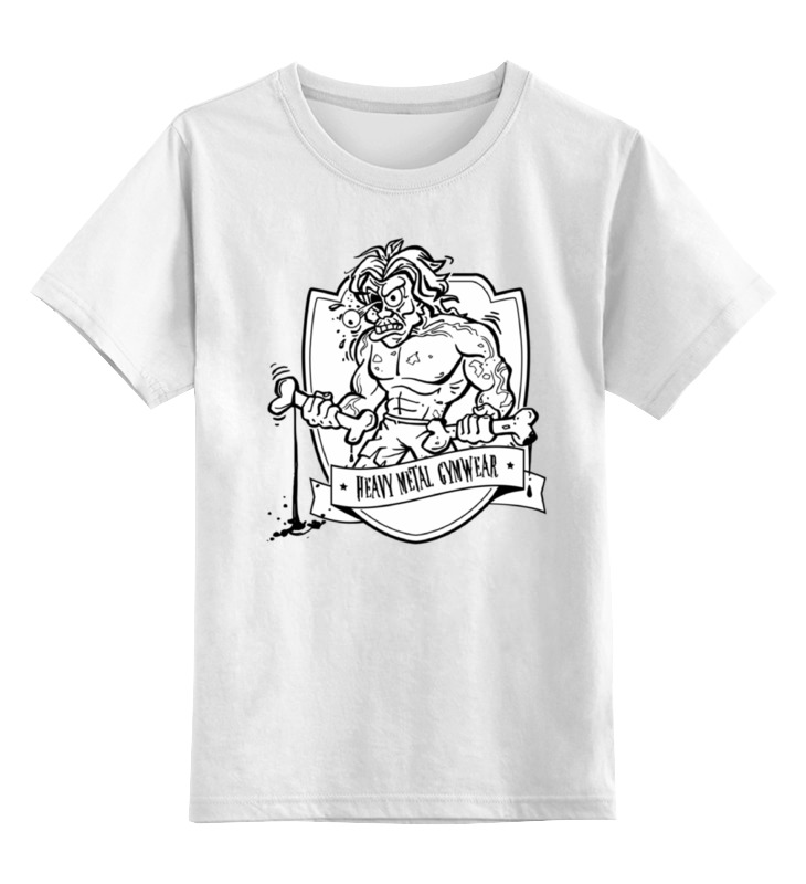 Детская футболка классическая унисекс Printio Heavy metal gymwear лонгслив printio heavy metal gymwear
