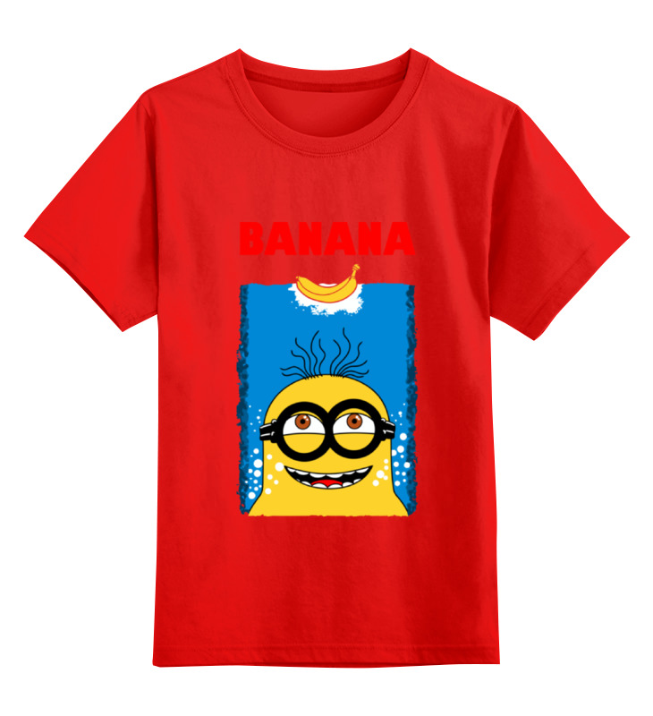 Детская футболка классическая унисекс Printio Banana jaws smoby детская горка king size цвет красный