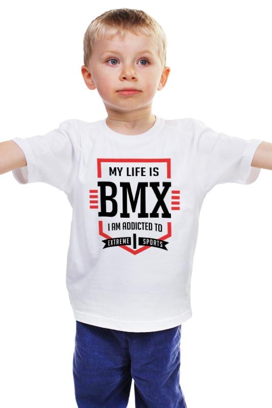 Детская футболка классическая унисекс Printio Bmx - моя жизнь