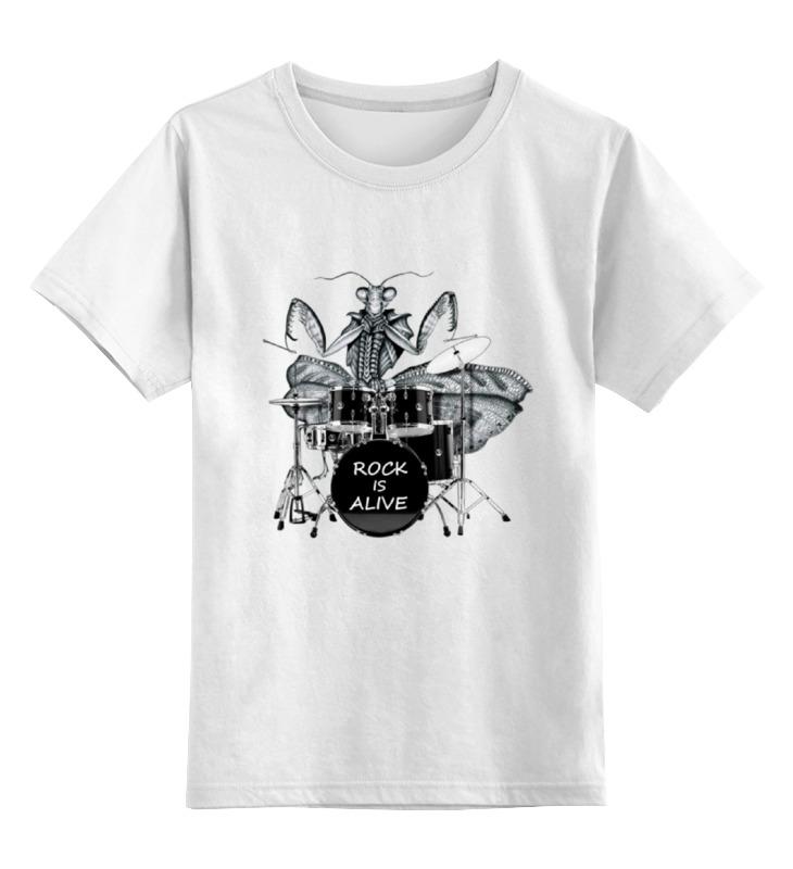Детская футболка классическая унисекс Printio Богомол-барабанщик богомол s e019
