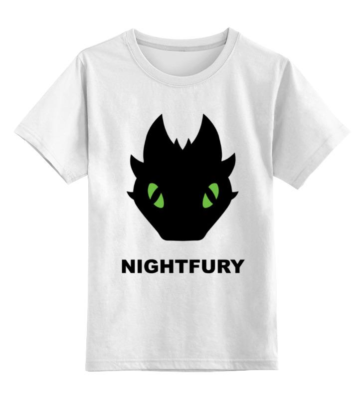 Детская футболка классическая унисекс Printio Ночная фурия (night fury) цена и фото