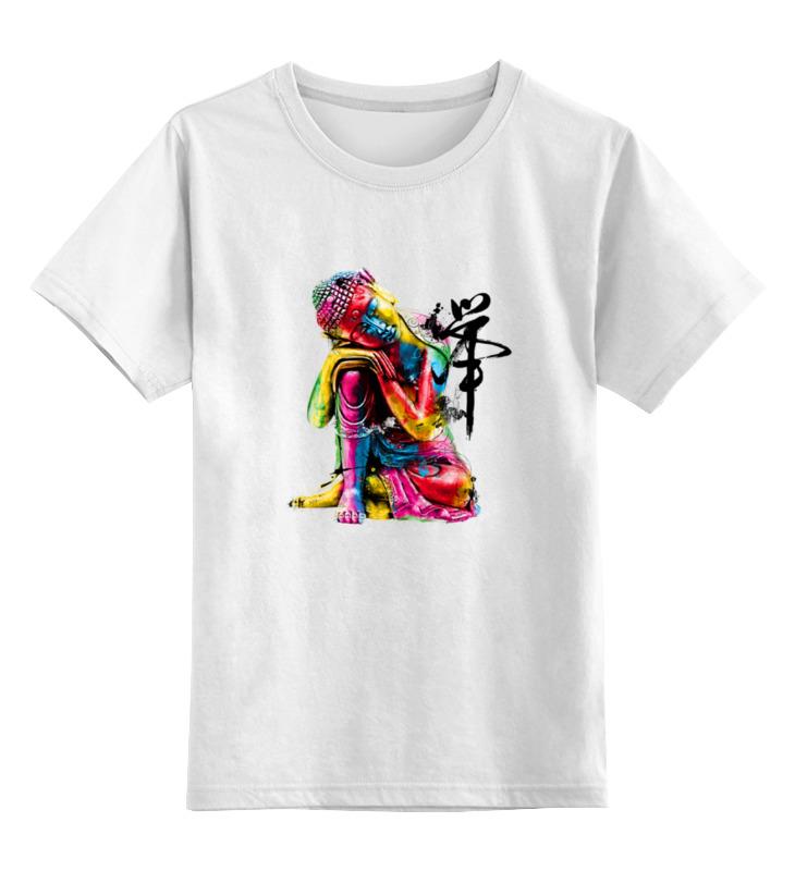 Детская футболка классическая унисекс Printio Будда цена