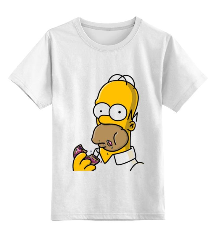 Детская футболка классическая унисекс Printio Гомер симпсон кружка цветная внутри printio гомер симпсон