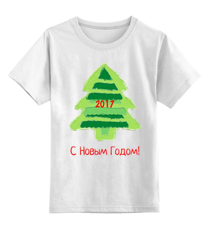 Детская футболка классическая унисекс Printio С новым годом! 2017 disney гирлянда детская на люверсах с новым годом тачки 198 см