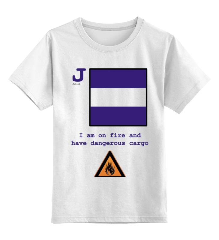 Детская футболка классическая унисекс Printio Juliet (j), флаг мсс (eng) цены