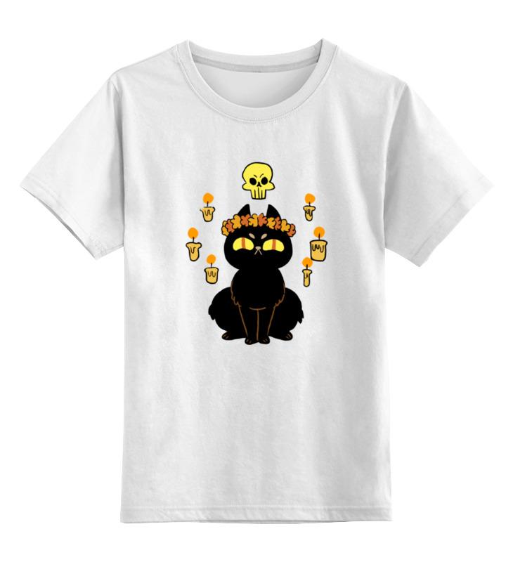 Детская футболка классическая унисекс Printio Черная кошка детская футболка классическая унисекс printio мотобайк