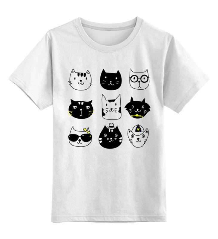 Детская футболка классическая унисекс Printio Милые котики