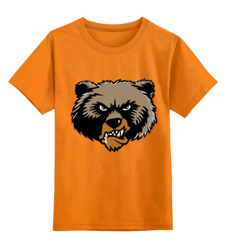 Детская футболка классическая унисекс Printio Медведь