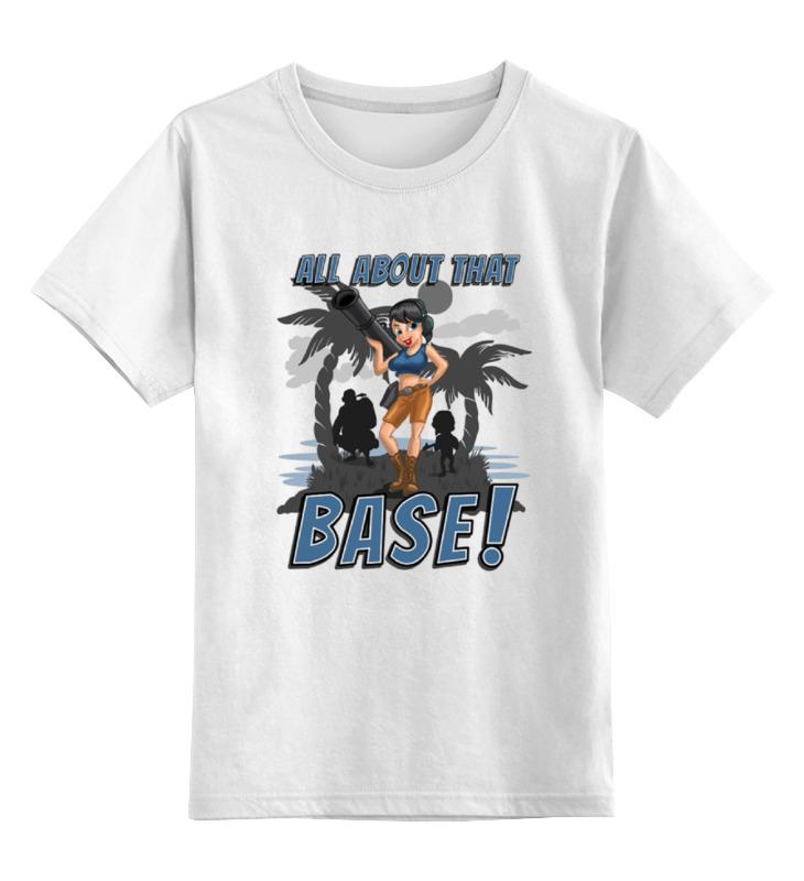 Детская футболка классическая унисекс Printio Base! детская футболка классическая унисекс printio красота смертельна