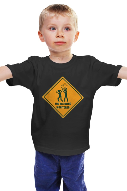 Детская футболка классическая унисекс Printio You are being monitored you are here