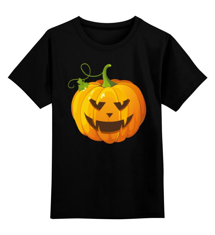 Детская футболка классическая унисекс Printio Хеллоуин- тыква детская футболка классическая унисекс printio тыква