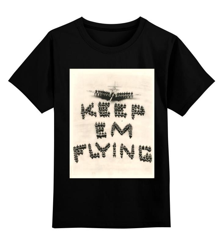 Детская футболка классическая унисекс Printio Летчик цена и фото