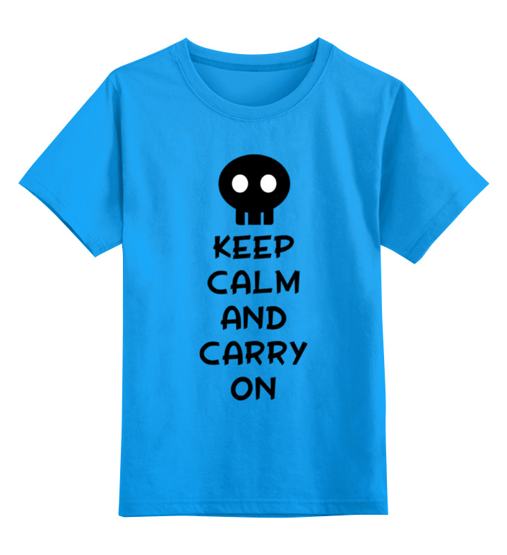 Детская футболка классическая унисекс Printio Keep calm and carry on bruce schneier carry on sound advice from schneier on security