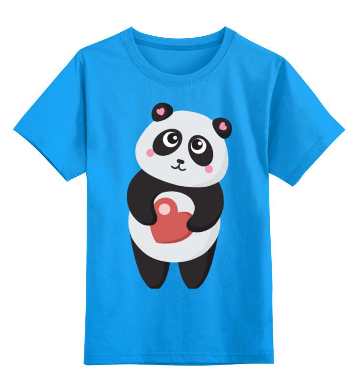 Детская футболка классическая унисекс Printio Панда с сердечком позиционеры для сна candide позиционер с подголовником воздухопроницаемая панда air