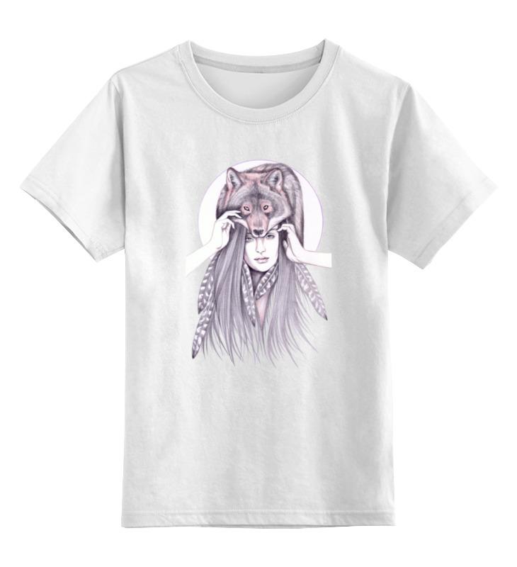 Детская футболка классическая унисекс Printio Девушка волк детская футболка классическая унисекс printio девушка