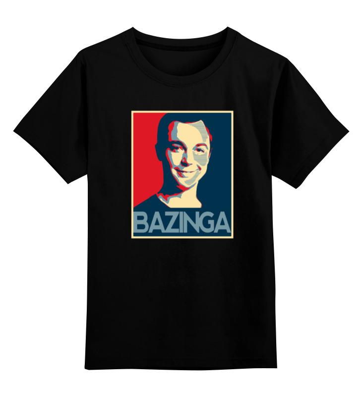 Детская футболка классическая унисекс Printio Bazinga детская футболка классическая унисекс printio sheldon bazinga