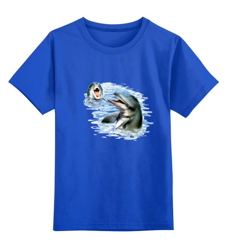 Детская футболка классическая унисекс Printio Дельфины наклейка для интерьера дельфины