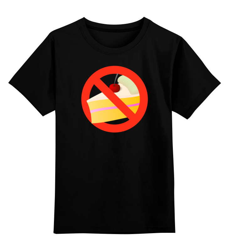 Детская футболка классическая унисекс Printio No cake детская футболка классическая унисекс printio no smoking