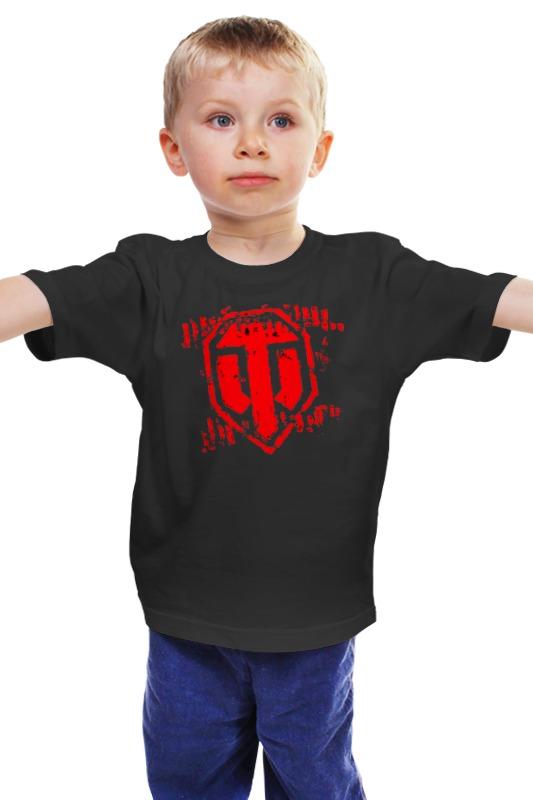 Детская футболка классическая унисекс Printio World of tanks logo