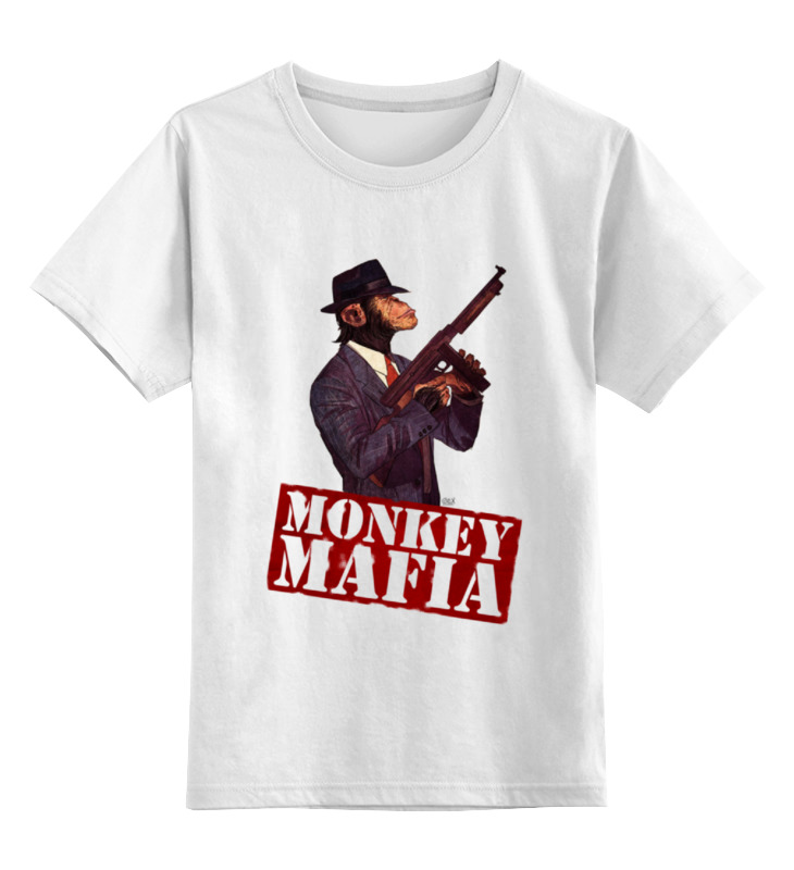 где купить Детская футболка классическая унисекс Printio Monkey mafia по лучшей цене