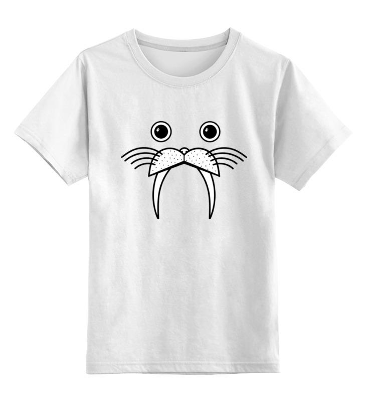 Детская футболка классическая унисекс Printio Смешной морж цена и фото