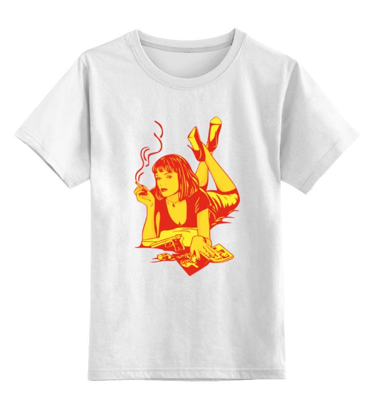 Детская футболка классическая унисекс Printio Мия уоллес (криминальное чтиво) детская футболка классическая унисекс printio криминальное чтиво